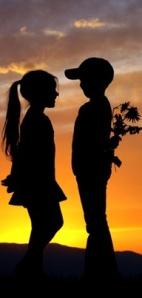 boy and girl valentine