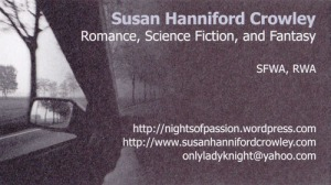1st romance author card