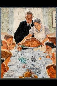 Norman Rockwell Thanksgiving Courtesy Wikimedia Commons