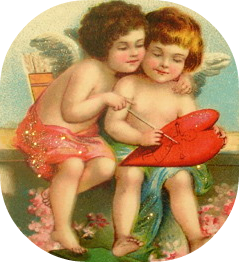 free-vintage-valentines-day-clip-art-two-cupids-painting-a-red-heart2