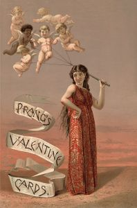 """Prang's Valentine Cards2"" by Boston : L. Prang & Co. - Library of Congress[1]. Licensed under Public Domain via Wikimedia Commons - http://commons.wikimedia.org/wiki/File:Prang%27s_Valentine_Cards2.jpg#mediaviewer/File:Prang%27s_Valentine_Cards2.jpg  From Wikipedia and in the Public Domain"