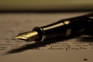 Stipula Fountain pen on paper that's been written
