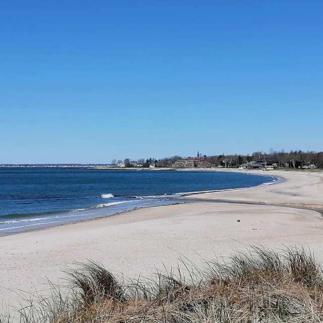 Beach at Harkness Memorial State Park